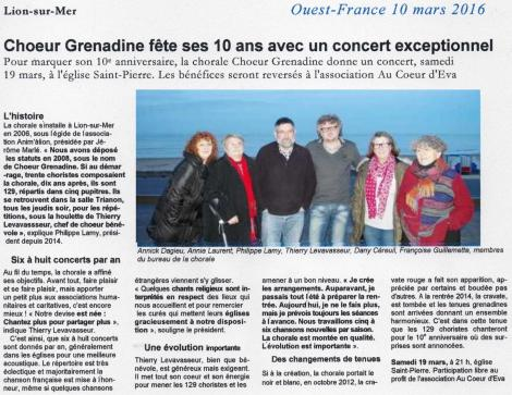 Of 10 ans chorale 10 mars 2106